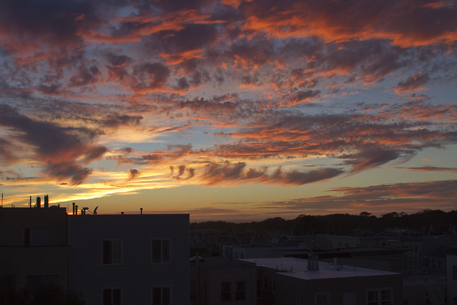 Sunset in San Francisco; September 23, 2015  POV 1333 26th Ave