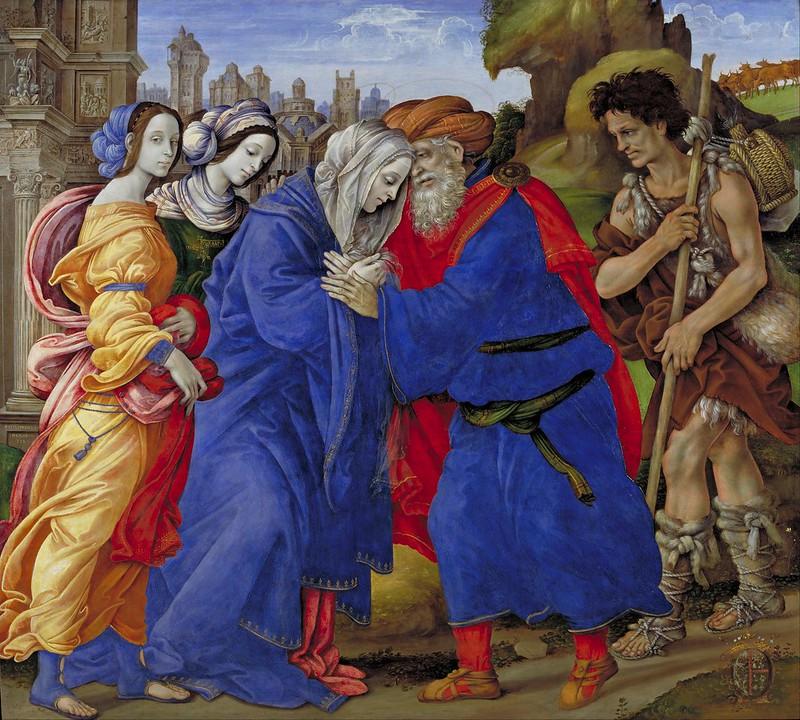 Filippino Lippi - The Meeting of Joachim and Anne outside the Golden Gate of Jerusalem (1497)