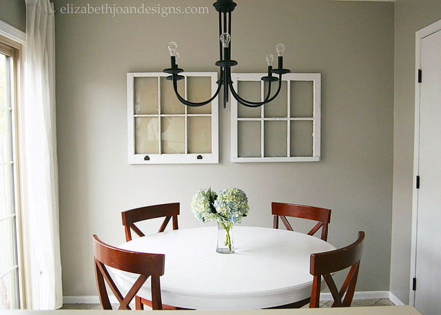 Neutral Dining Room Farmhouse