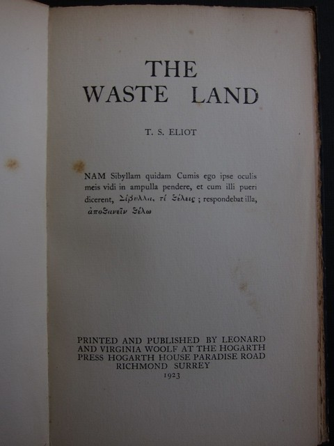 most controversial poem the waste land by ts eliot