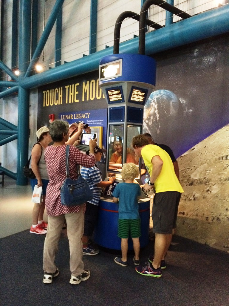 Touch a Moon Rock at Kennedy Space Center Visitor Complex, Oct. 10, 2015