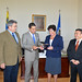Ambassador Neil Parsan, Executive Secretary for Integral Development, received honorary gift from OAS Permanent Council