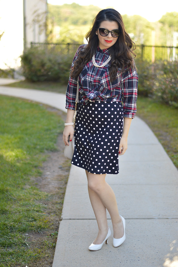 mixing-prints-plaid-and-polka-dots