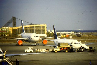 Tarom 737-300 and A310 at OPT