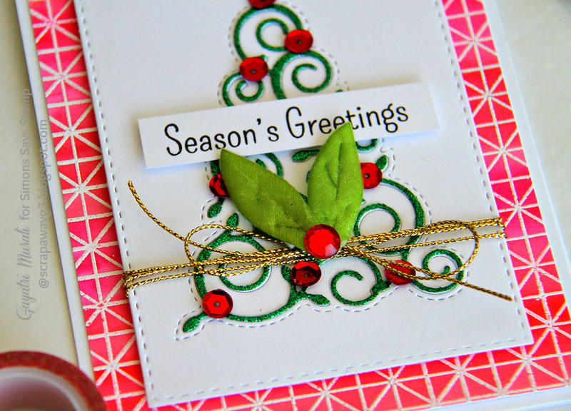 Season's Greeting closeup