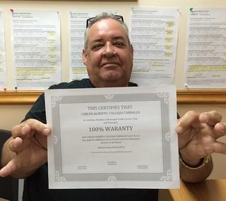Carlos Calleja, Reparacion de Credito en Municipal Credit Service Corp Miami