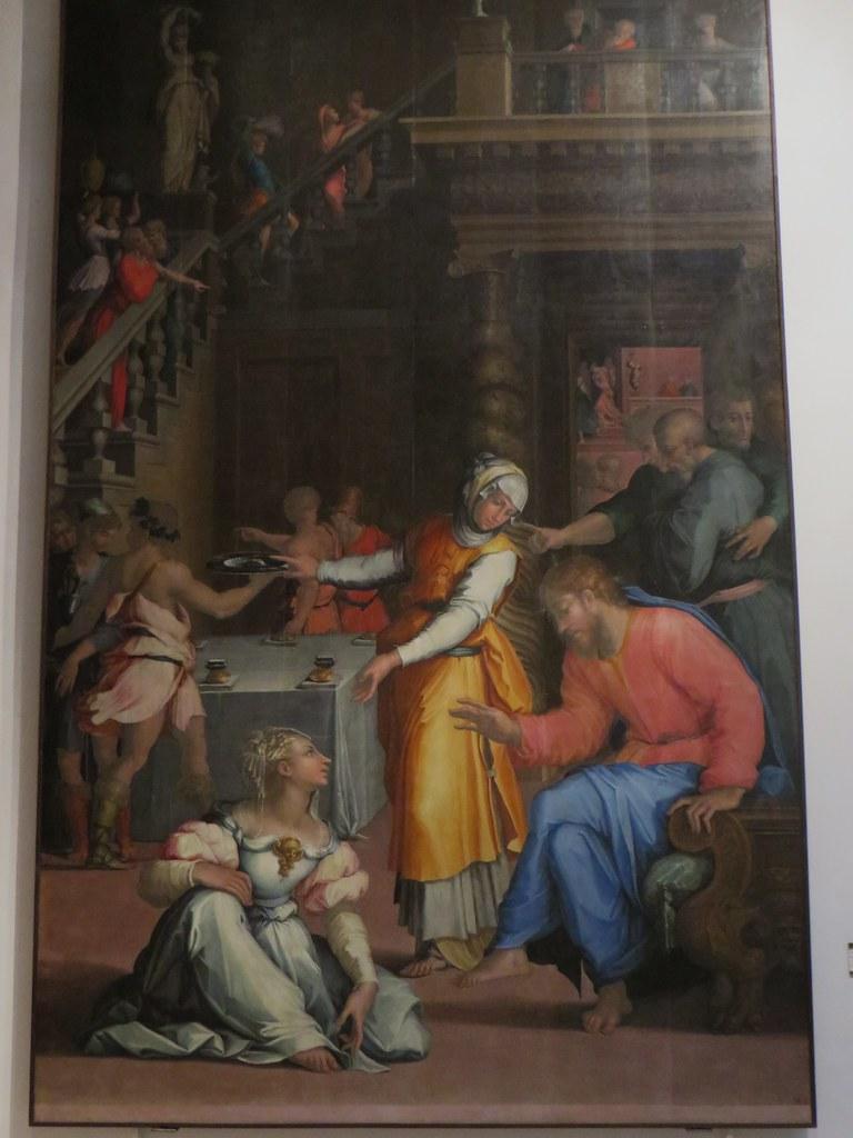 """""""Gesu Cristo in casa di Marta e Maria"""", 1540, Giorgio Vasari (1511-1574), Pinacothèque Nationale, via delle Belle Arti, Bologne, Emilie-Romagne, Italie."""