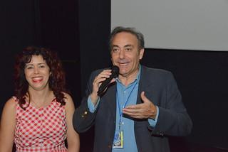 Elaine Hernández y Pepe Barrena
