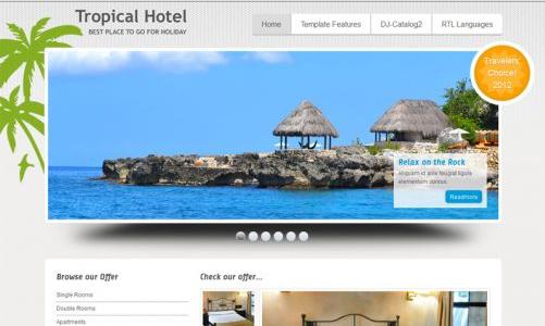 JoomlaMonster JM Tropical Hotel v1.02 - Joomla Template