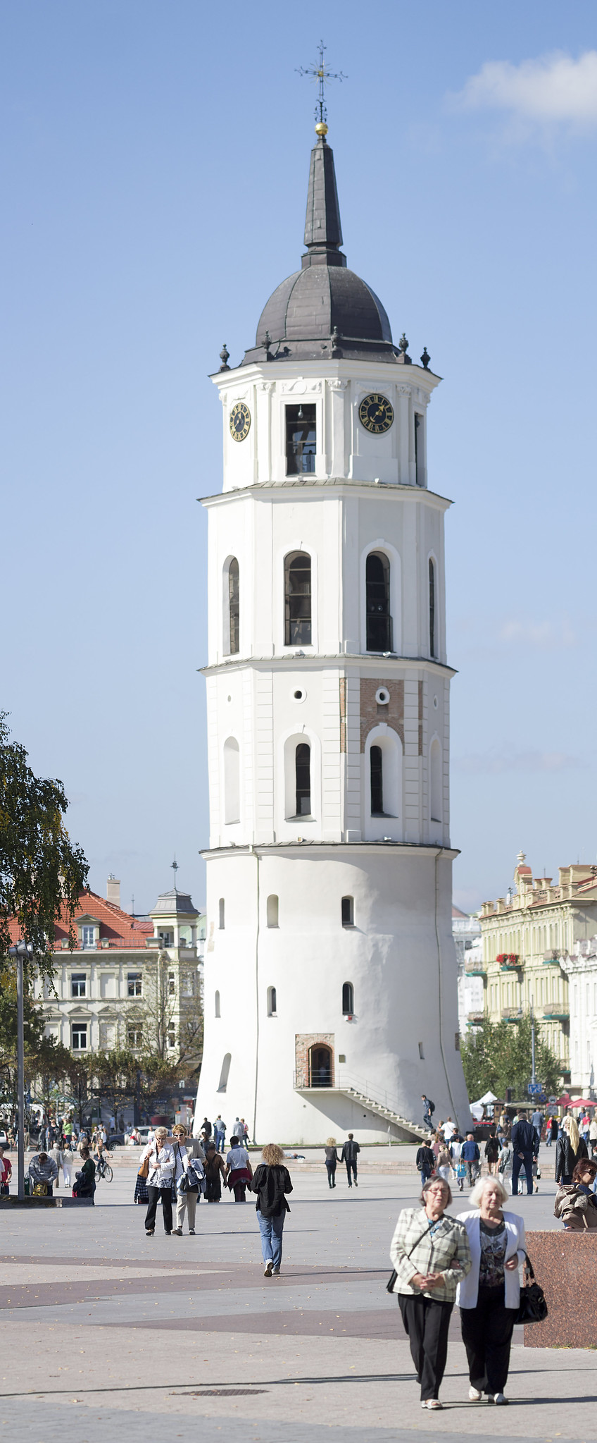 White tower in Vilnius, Wilno
