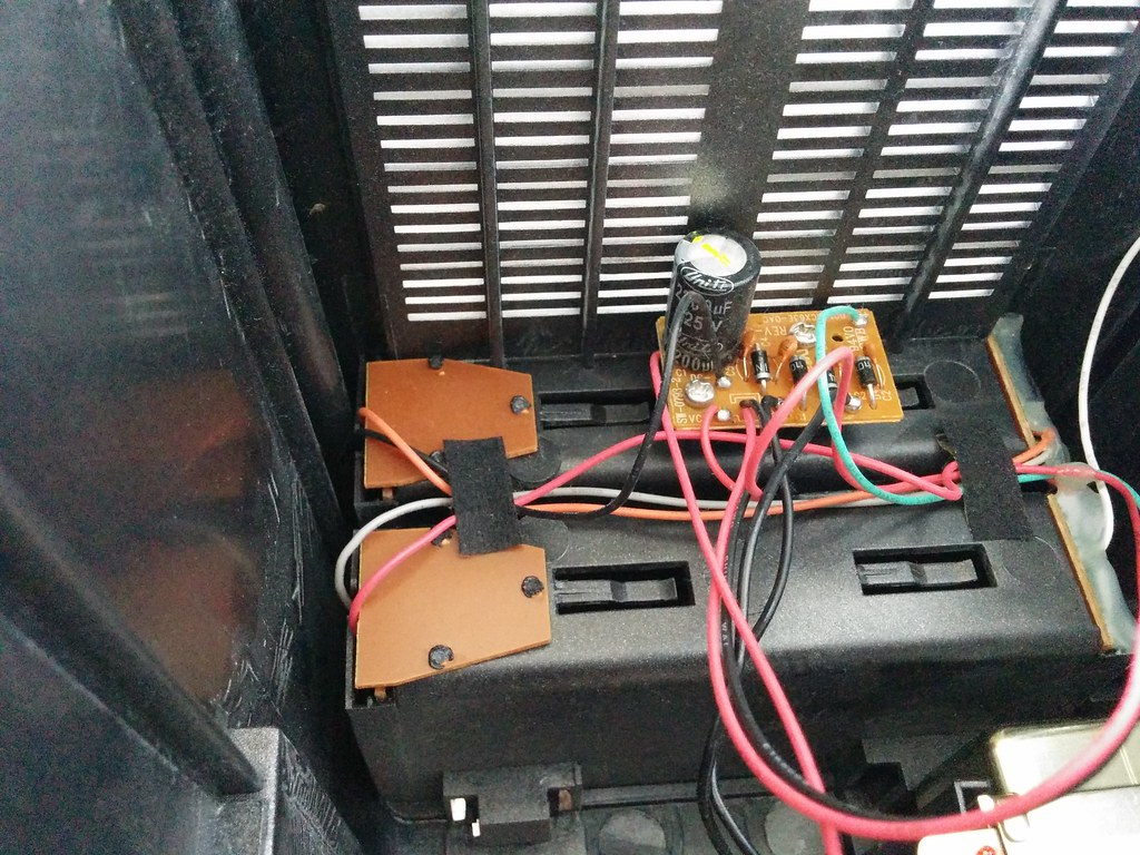 Something on top of the battery compartment