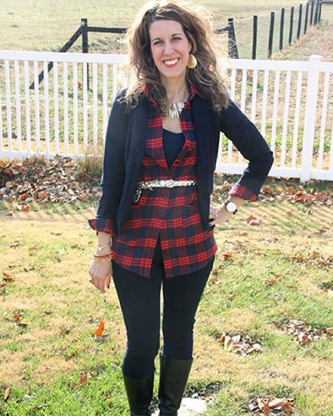 Thursday Fashion Files with @DousedinPink and our co-host Candace from @candaceshiflet! Plaid is on trend this fall and I have been looking high and low for a plaid dress. Recently I came across this plaid dress c/o @Romwe and decided to wear it on Thanks