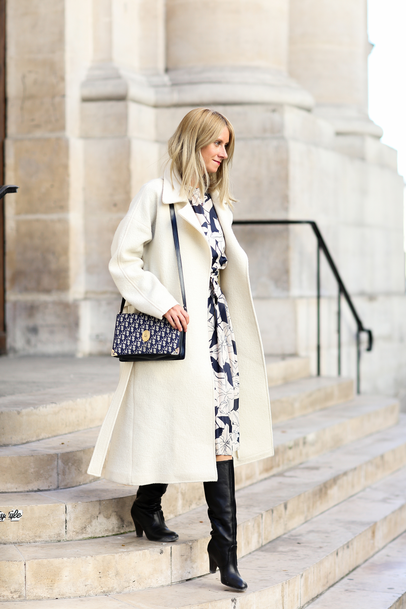 manteau blanc long