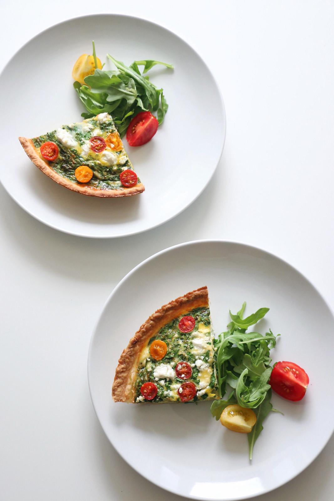 spinach & goat cheese quiche 3