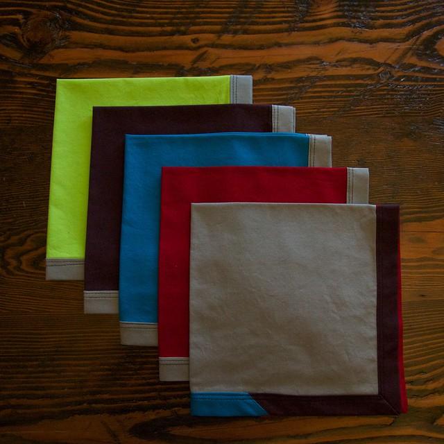5 holiday napkins