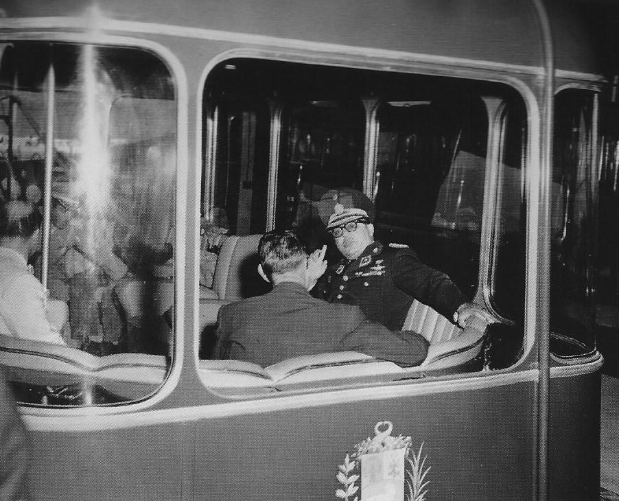 mpj inaugura el teleferico 1955