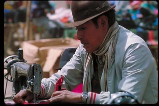 Ecuador Local market sewing