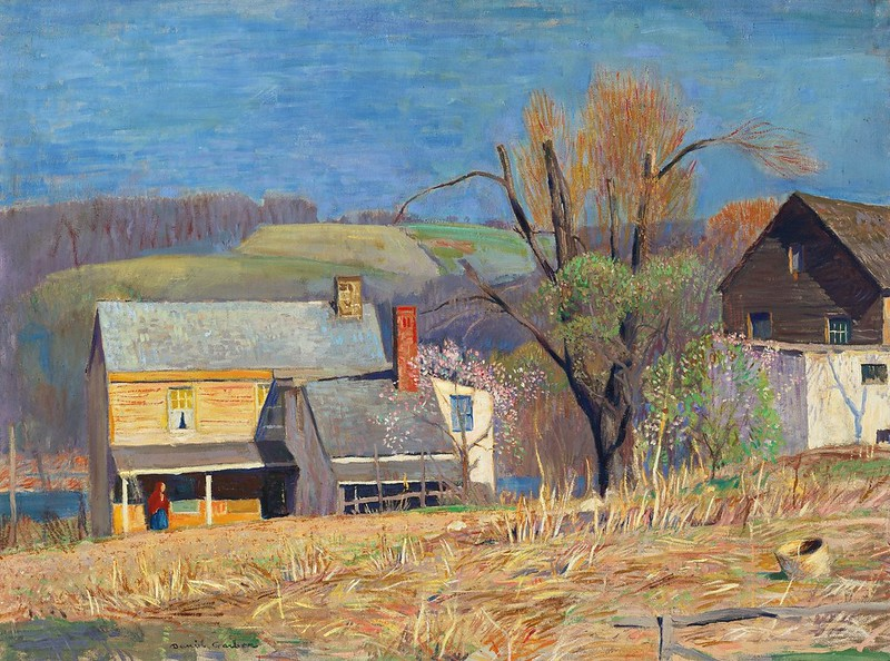 Daniel Garber - Bright day, March morning (c.1940)