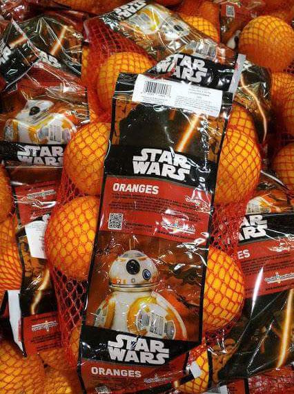 Imagen graciosa de naranjas de Star Wars