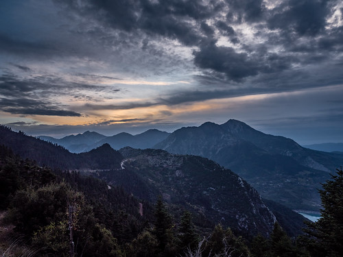 mountains river greece clouds sunset zimotaria nature evritania thessaliastereaellada gr