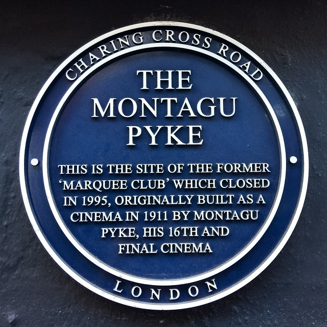 Photo of The Montagu Pyke and Marquee Club blue plaque