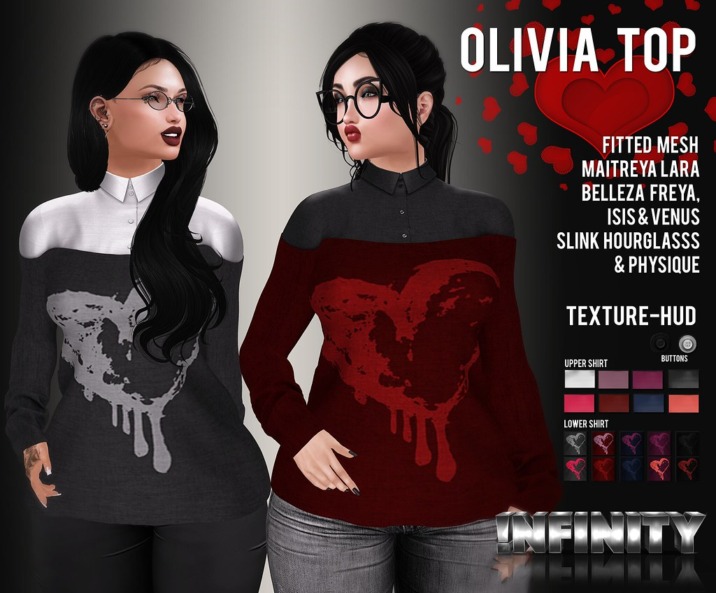 !NFINITY Olivia Top - SecondLifeHub.com