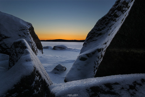 bluehour sunset cliff stone rock ice snow landscape winter cold winterwonderland sun sky nikon d3100 nikkor 1755mm f28g nature naturelovers photoshoot photography outdoor shore lake suomi finland jyväskylä leppälahti talvi maisema kylmä peek