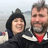 """Rip a selfie"" #rocks #cannonbeach"