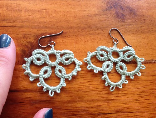 Tatted earrings for Emma