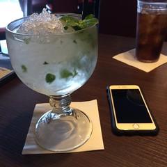 produce(0.0), food(0.0), distilled beverage(1.0), liqueur(1.0), glass(1.0), mint julep(1.0), drink(1.0), cocktail(1.0), alcoholic beverage(1.0),