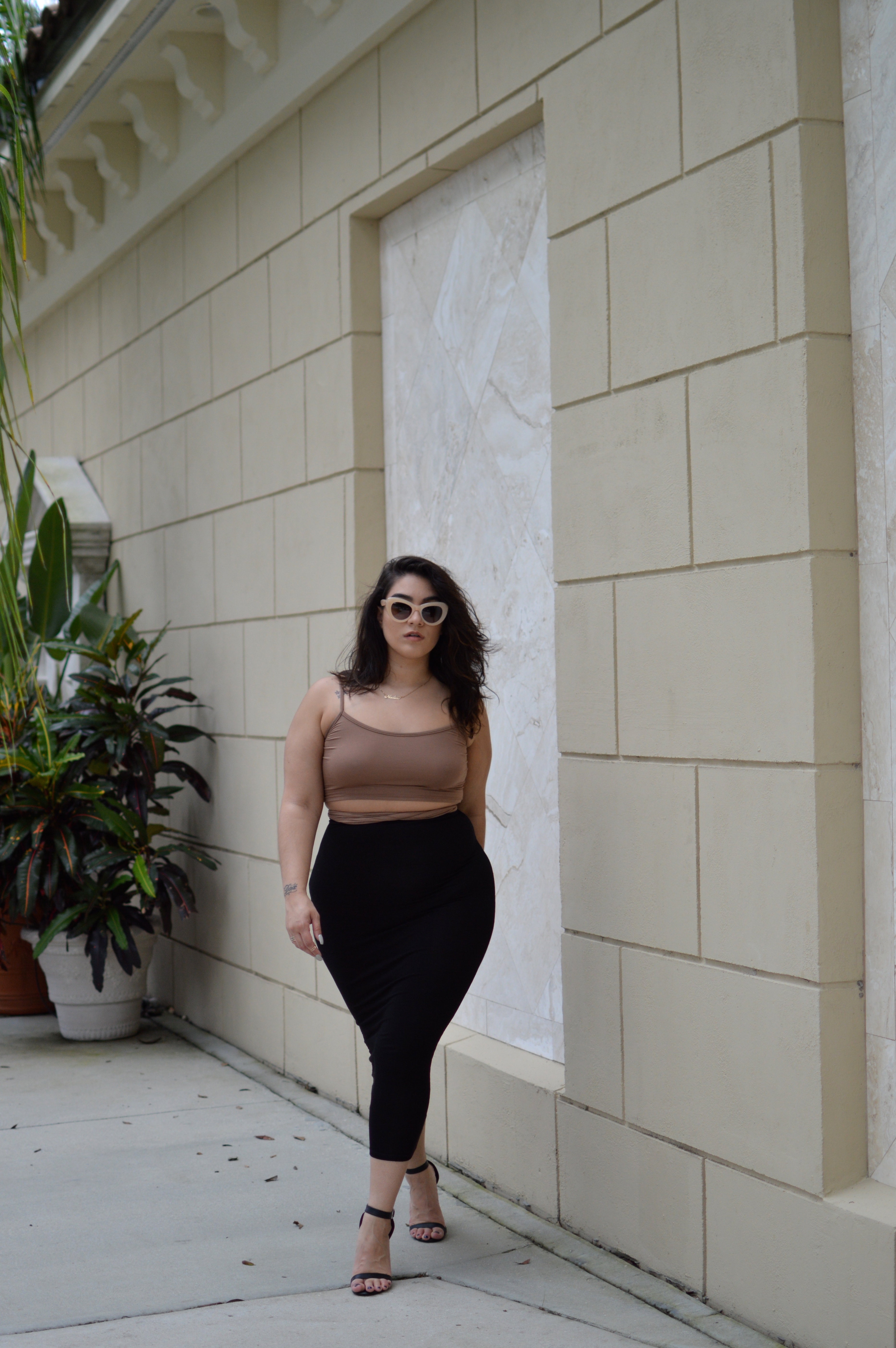 nadia black maxi skirt
