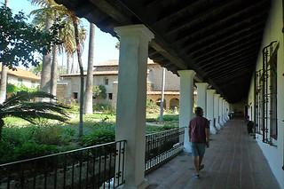 Santa Barbara - Santa Barbara Mission hallway
