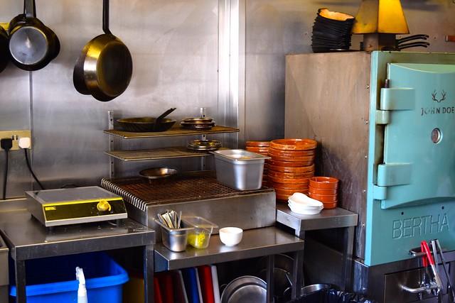 Open Kitchen at John Doe, Westbourne Park | www.rachelphipps.com @rachelphipps