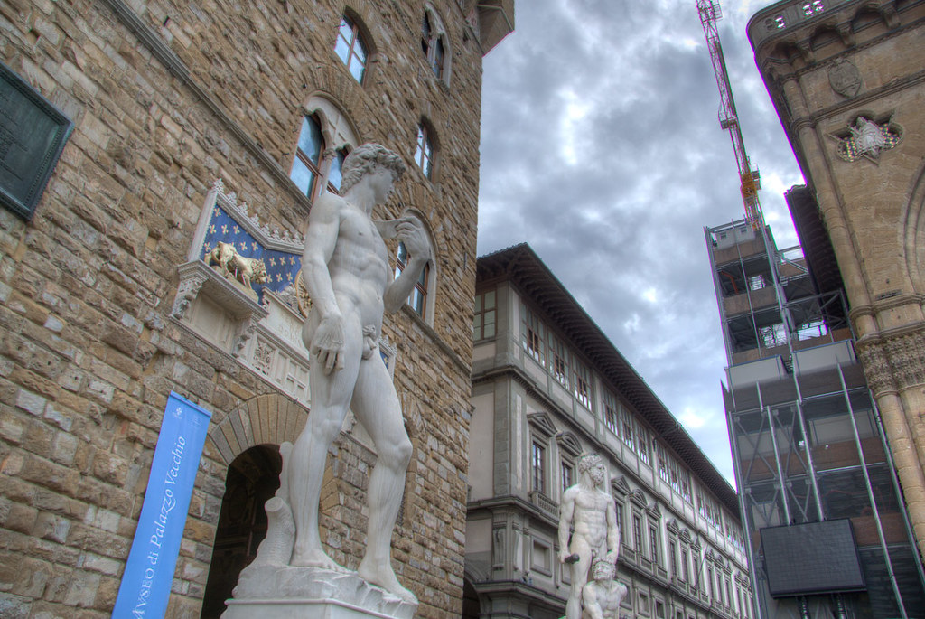 Original location of David statue
