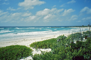 Playa Ixpalbarco görüntü. mexico cozumel quintanaroo