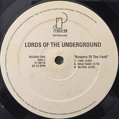 LORDS OF THE UNDERGROUND:KEEPERS OF THE FUNK(LABEL SIDE-C)