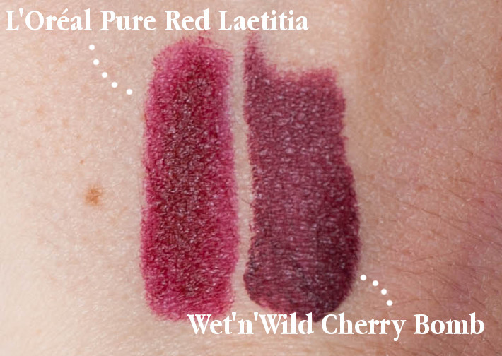 Beauty: L'Oréal collection exclusive Laetitia's pure red swatch