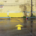 Exit from McDonald's Parking Lot/Big Yellow Wall, Strip District, Pittsburgh, November 10, 2015 by real00