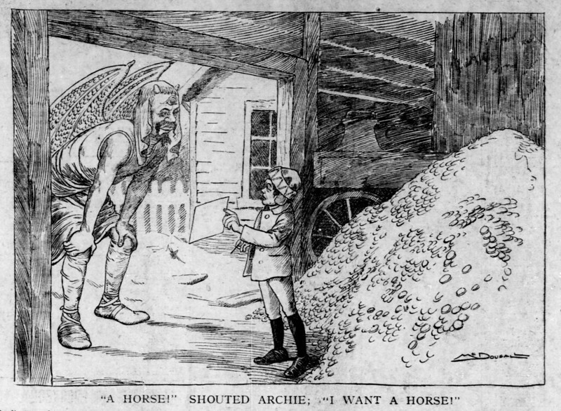 "Walt McDougall - The Salt Lake herald., January 18, 1903, ""A Horse!"" Shouted Archie; ""I Want A Horse!"""