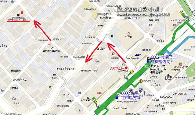 弘大DW地圖