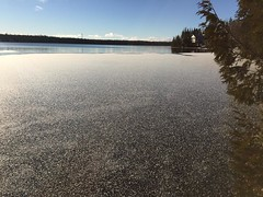 And then there was ice. Freeze up was Nov 14 last year. Will tonight be the night? #tbay #nipigon #fryed365