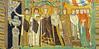Roman Empress Theodora and court - 'Byzantine'-style mosaic, 547 CE, Basilica di San Vitale, Ravenna, Italy