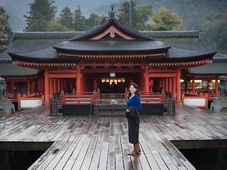Image of Itsukushima Shrine near Miyajima. japan shrine hiroshima miyajima itsukushimajinja