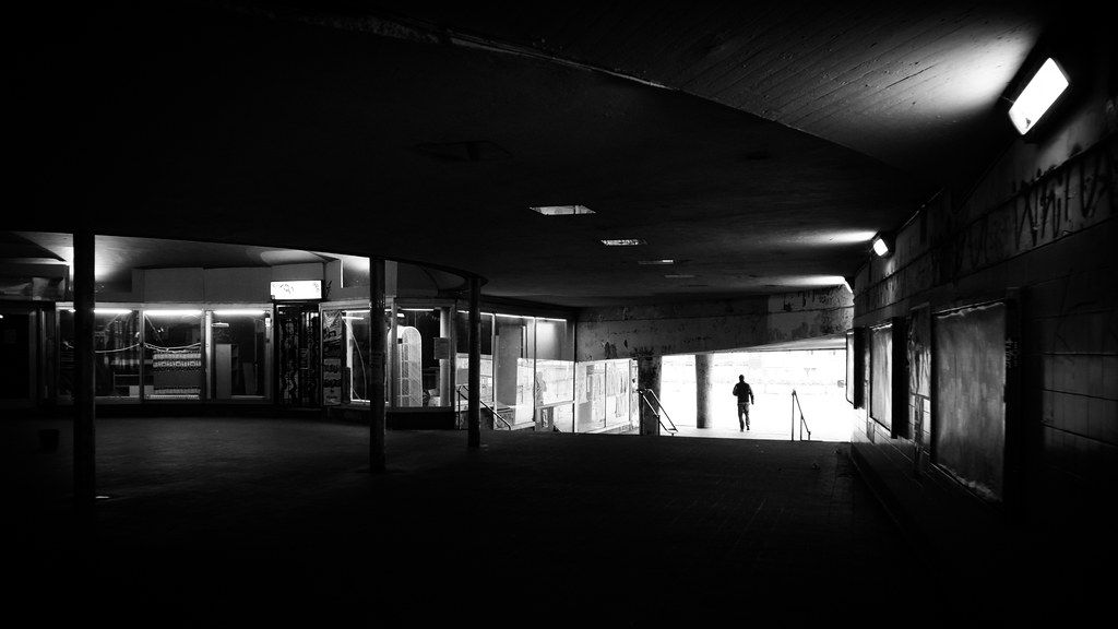 Under the city - Stockholm, Sweden - Black and white street photography