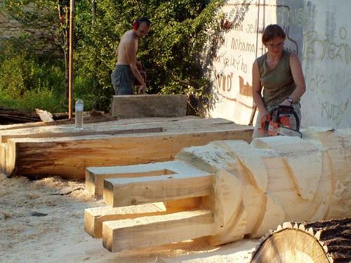 2005 - Dřevěné sochy