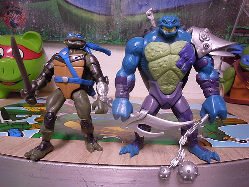 "Nickelodeon ""HISTORY OF TEENAGE MUTANT NINJA TURTLES"" FEATURING LEONARDO - 'TMNT : FAST FORWARD' LEONARDO vii / ..with DARK LEO '06 (( 2015 ))"