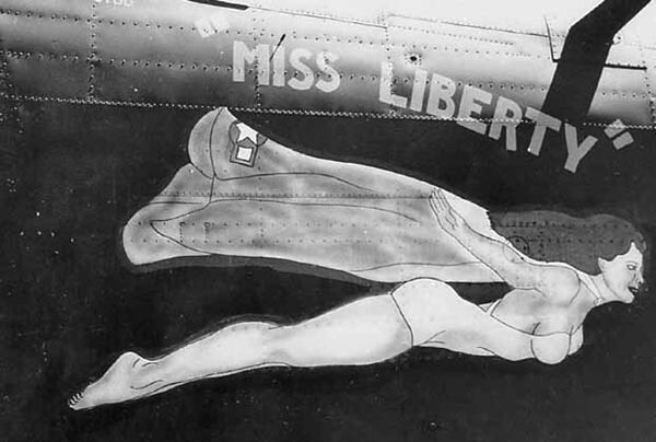 B-24 Miss Liberty Nose Art