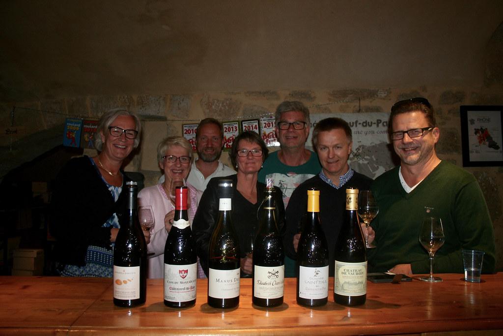 Vinprovning Vinadea i Châteauneuf-du-Pape