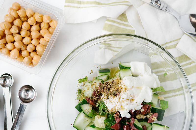 terra's kitchen chickpea and cucumber salad #arecipeforreallife #ad