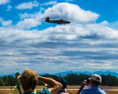 Airshow Fans Loving @FlyingHeritage B-25J Flypast of #JBLMAWE